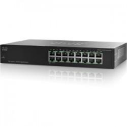 Cisco SG100-16 16-Port Gigabit Switch - 16 Ports