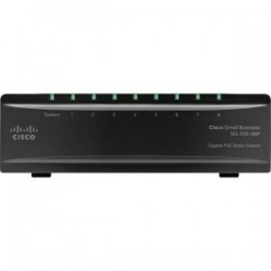 Cisco SG200-08P Gigabit PoE Smart Switch - 8